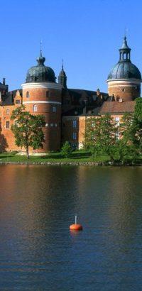 Gripsholms slott panorama båt. Foto Per-Erik Adamsson